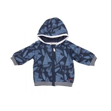 Jacket with hood in an all over surf print