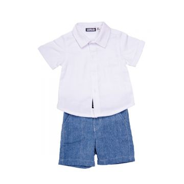 Two piece set - short sleeve shirt and shorts