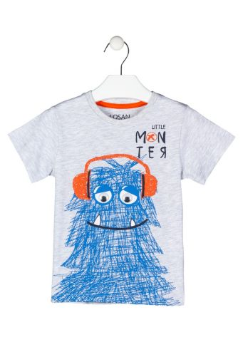Monster print short sleeve t-shirt