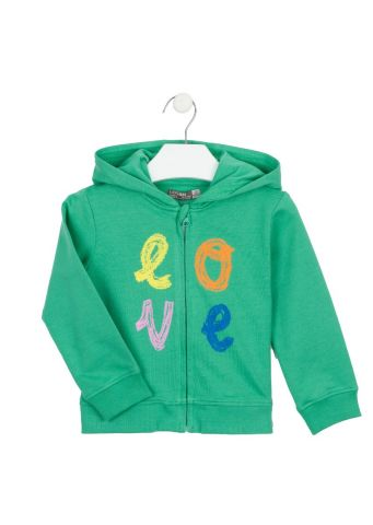 """Love"" zip up hoody"