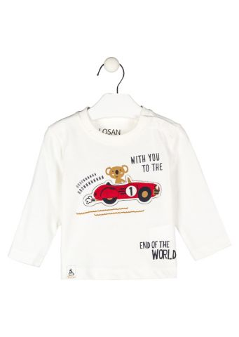 Red car two piece set - long sleeve t-shirt and trousers