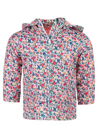 Raincoat with hood in an all over floral print