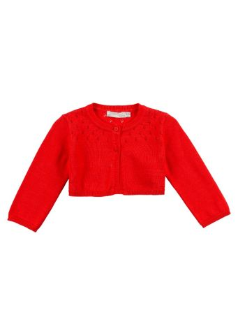 Knit bolero with long sleeves