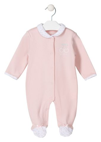 Cherry embroidered sleepsuit