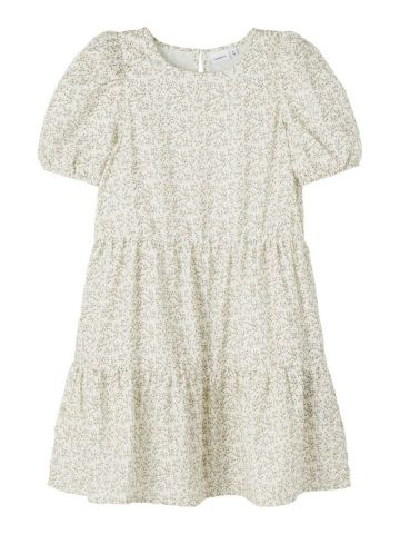 Short sleeve tiered floral dress