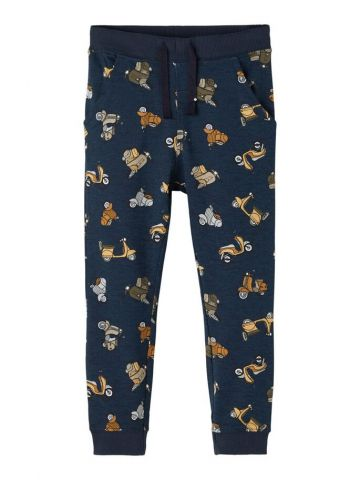 Joggers in an all over scooter print - Navy