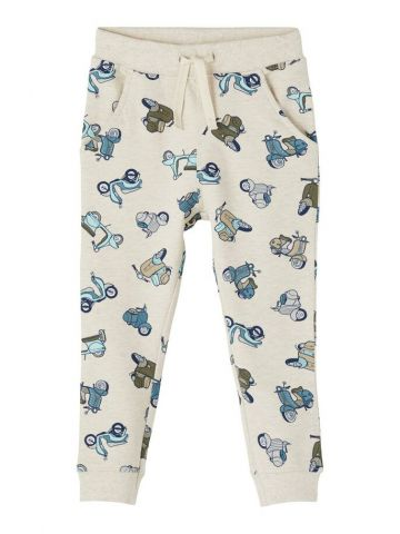 Joggers in an all over scooter print