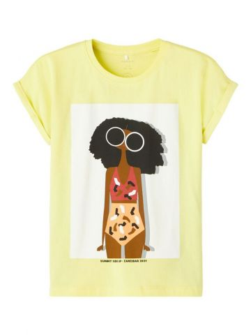 T-Shirt with graphic print on front - sunshine