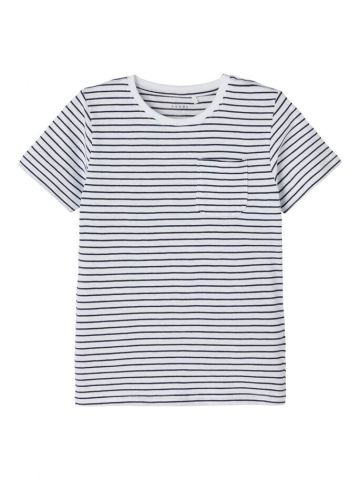 Striped t-shirt with pocket detail