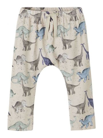 Dino print trousers with draw string