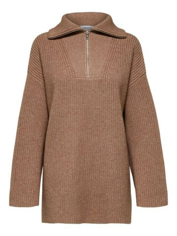 Quarter zip knitted pullover - Amphora