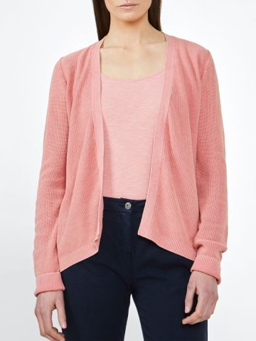 Cardigan with fine texture