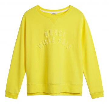 Sweater with star print - Blazing Yellow