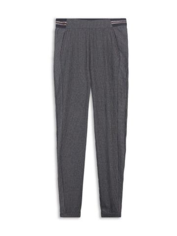 Striped trousers with lurex elasticated waist
