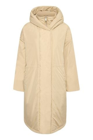 Montreal puffer coat with hood - curd