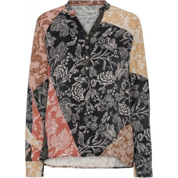Alexia shirt in an all over patchwork print