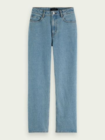 Scotch & Soda jeans in a high rise, straight fit - Ams Blauw