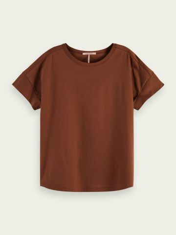 Basic t-shirt with dropped shoulder
