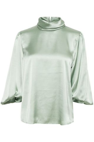 Herdis Blouse with high collar