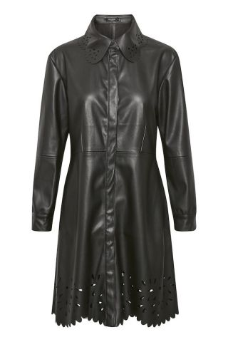 Malene shirt dress in a faux leather