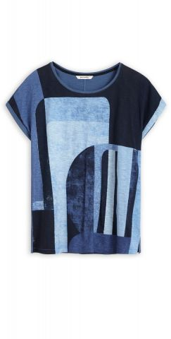 Organic cotton t-shirt with shapes print