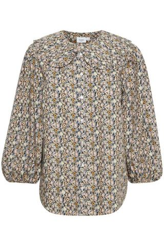 Heather Shirt with collar detail