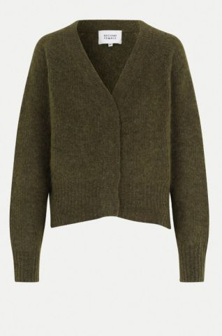 Brooky knitted cardigan - Burnt Olive