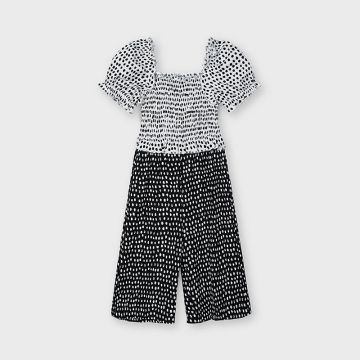 Polka dot playsuit with ruffle detail