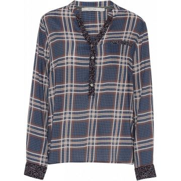 Alma blouse in an all over check print