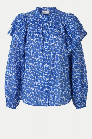 Dayly shirt with ruffle shoulder detail