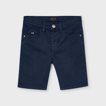 Denim style shorts with pockets