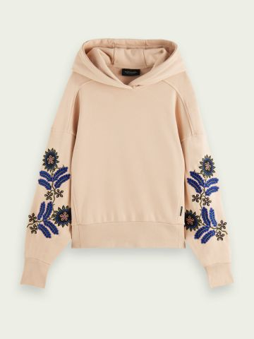 Scotch & Soda Oversized hoodie with embroidered sleeve