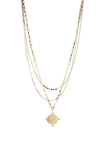 Eyes layered necklace - Gold