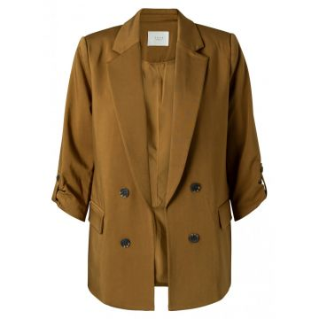 Double breasted blazer - dark ochre