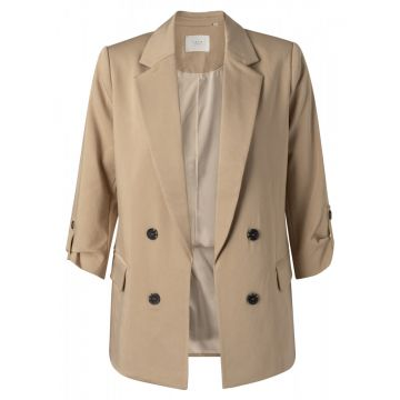 Double breasted blazer - camel