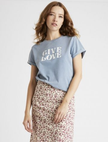 """""""Give Love"""" cotton t-shirt"""