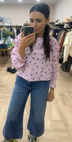 Long sleeved blouse in a floral print