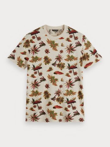 Tropical print Crew neck T-Shirt