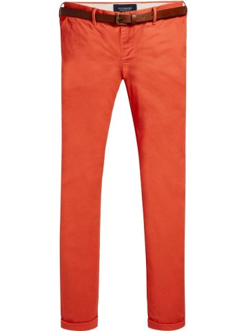 Stuart - Orange / Coral Classic Chino Regular slim fit