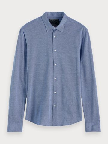 Soft Knitted Slim Fit Shirt