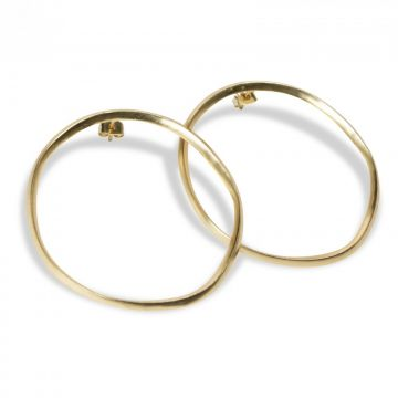Hoop earrings with a hammered finish