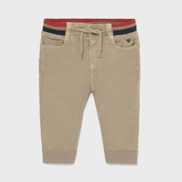 Jogger trousers with striped elastic waistband