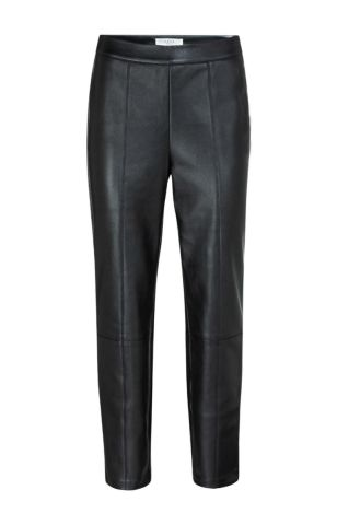 YaYa Faux leather trousers in a straight leg