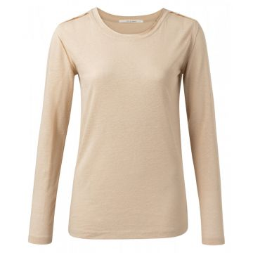 Long sleeve t-shirt in a linen blend