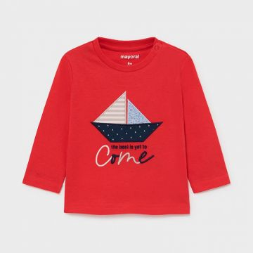 Long sleeved t-shirt with boat detail