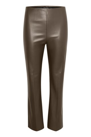 Kaylee kickflare trousers in a faux leather