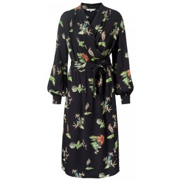Maxi dress with all over wild animals and flower print