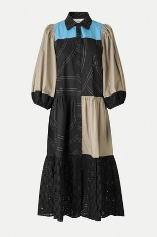 Dakky dress with mixed panelling