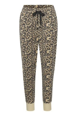 Jersey relaxed jogger - Leopard