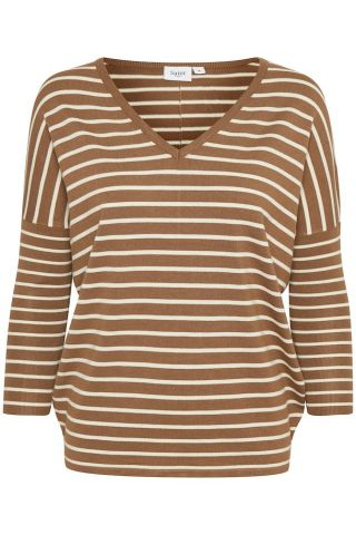 Bonnie knitted v-neck jumper - tan